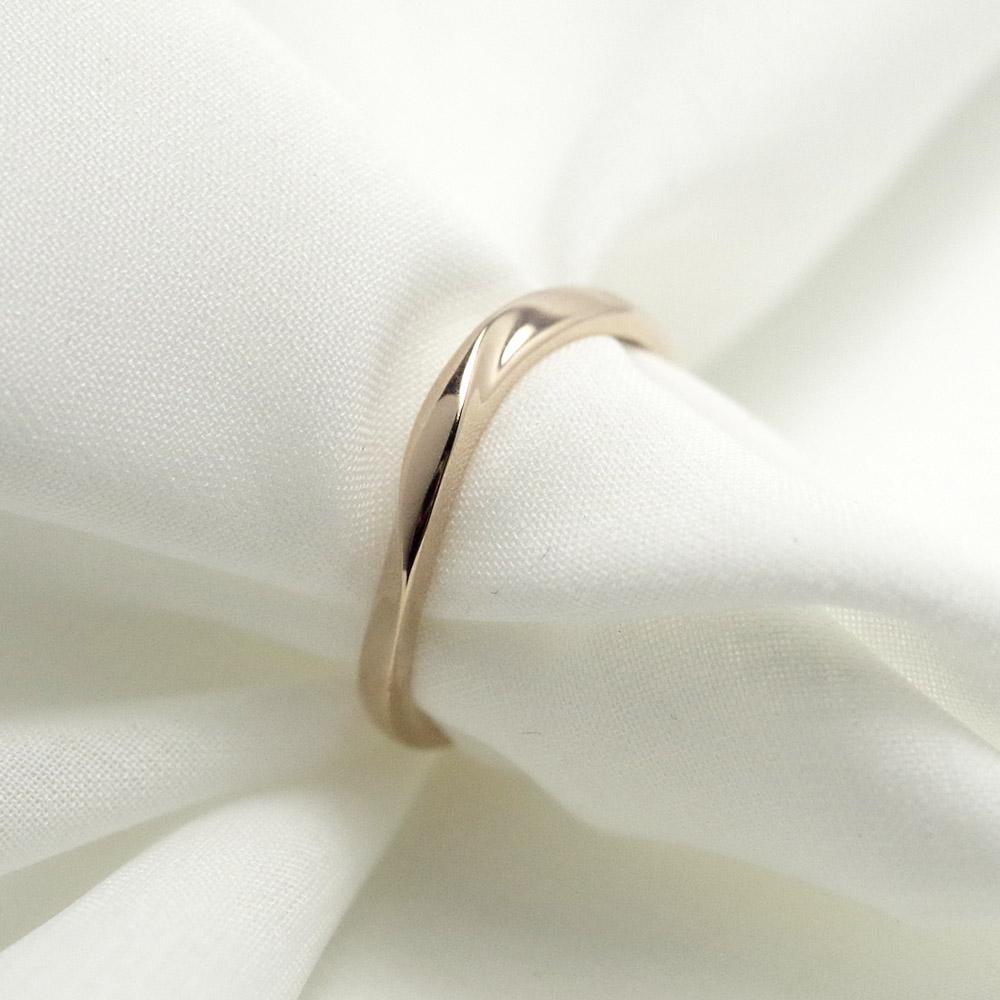 メモリアルリングMR02 地金:K18PG (18Kピンクゴールド) 〜遺骨を内側にジェル封入する完全防水の指輪〜