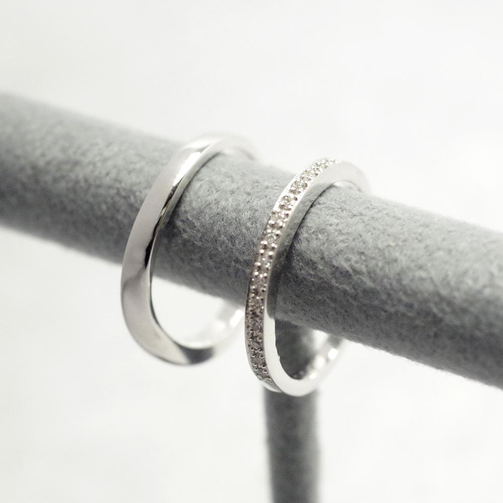 メモリアルリングMR02 地金:K10WG (10Kホワイトゴールド) 〜遺骨リング 完全防水の指輪〜