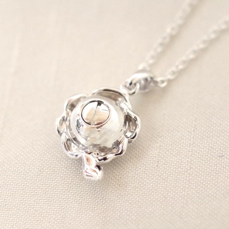 遺骨ペンダント ソウルジュエリー・ローズ (SILVER925×ダイヤモンド) 誕生石制作可
