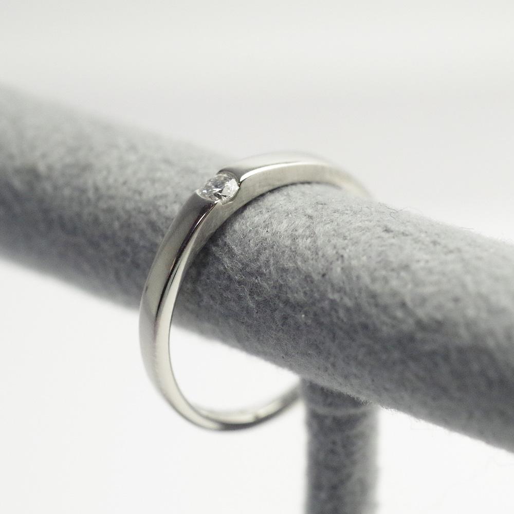 メモリアルリングMR04 地金:K18WG (18Kホワイトゴールド) 〜遺骨リング ,完全防水の指輪〜