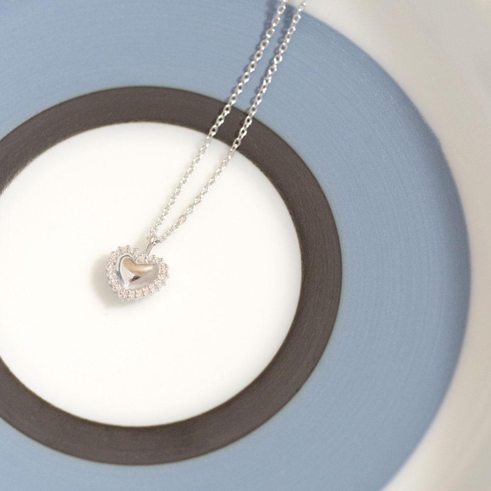 遺骨ペンダント ソウルジュエリー エタニティハート K18WG (ホワイトゴールド)×ダイヤモンド