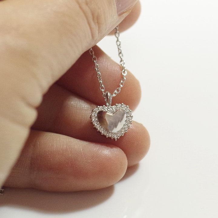 遺骨ペンダント ソウルジュエリー エタニティハート Pt900 (プラチナ)×ダイヤモンド