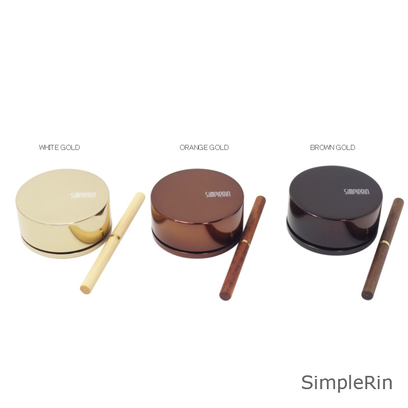 デザイン仏具 SinpleRin シンプルりん オシャレでキレイな音色のおりん(ホワイトゴールド)