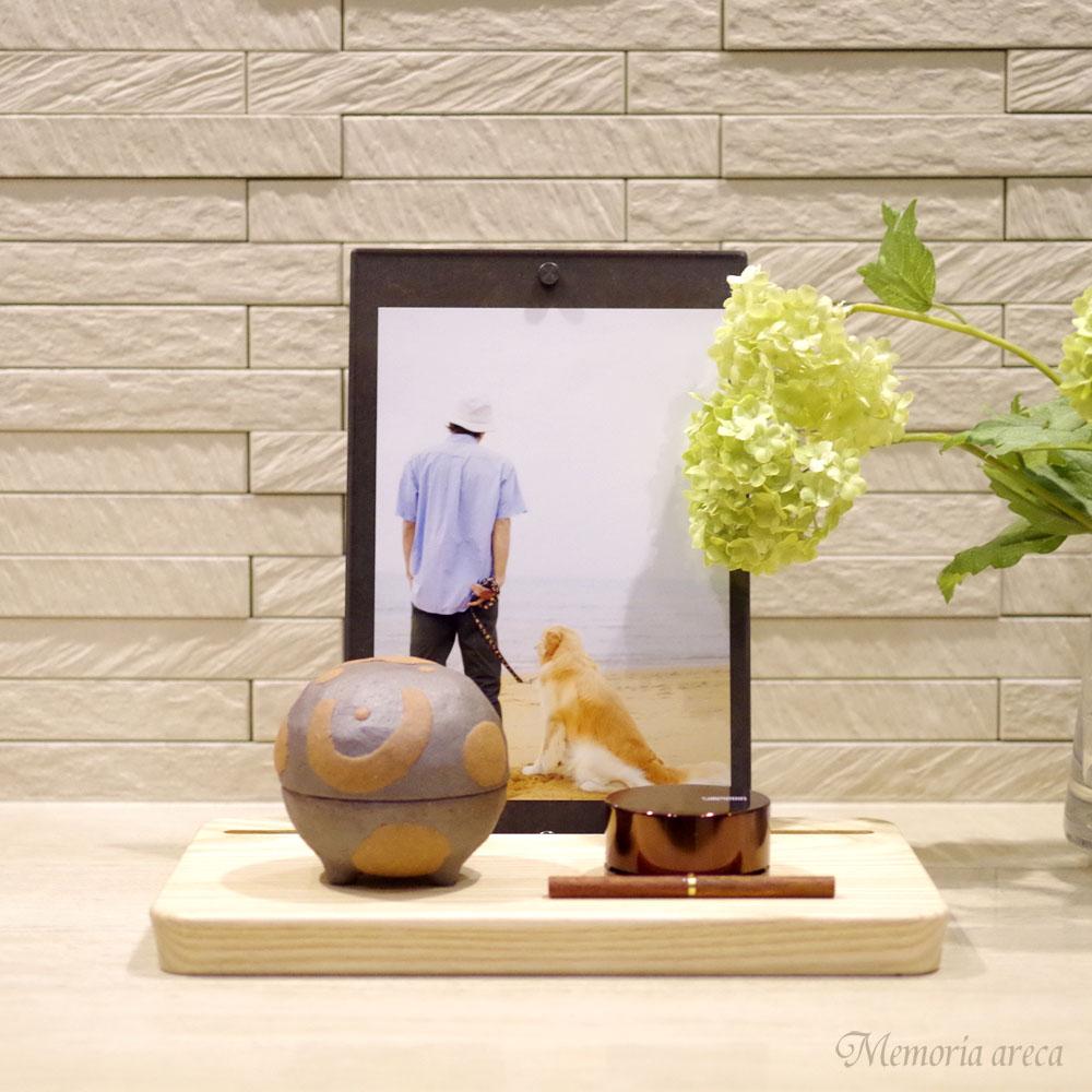 【手元供養】フォトフレーム型メモリアルステージ・手元供養飾り台 ピクスタル ブラック