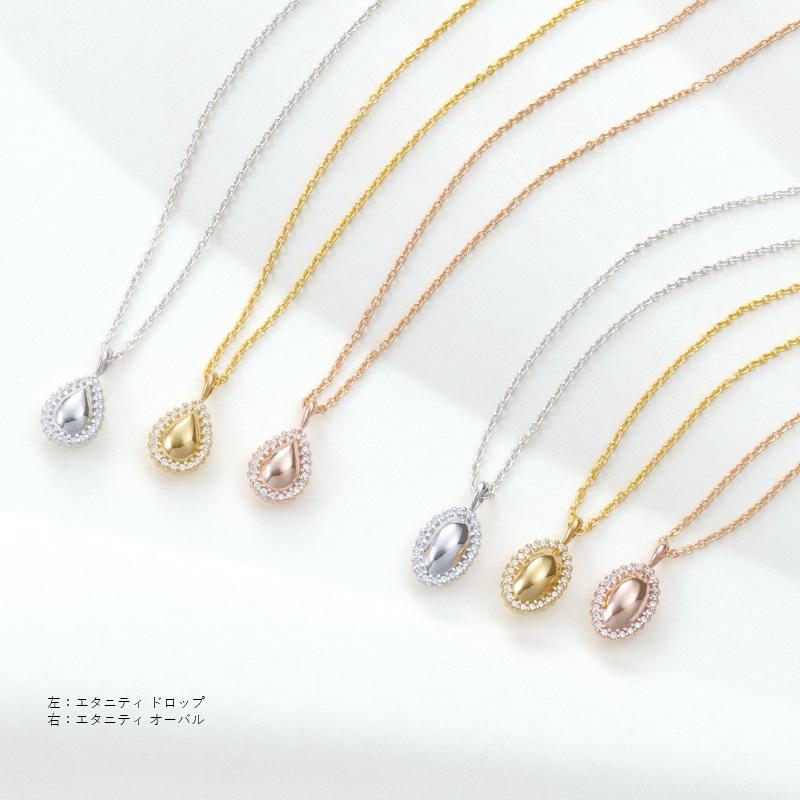 遺骨ペンダント ソウルジュエリー エタニティドロップ K18WG (ホワイトゴールド) ×ダイヤモンド