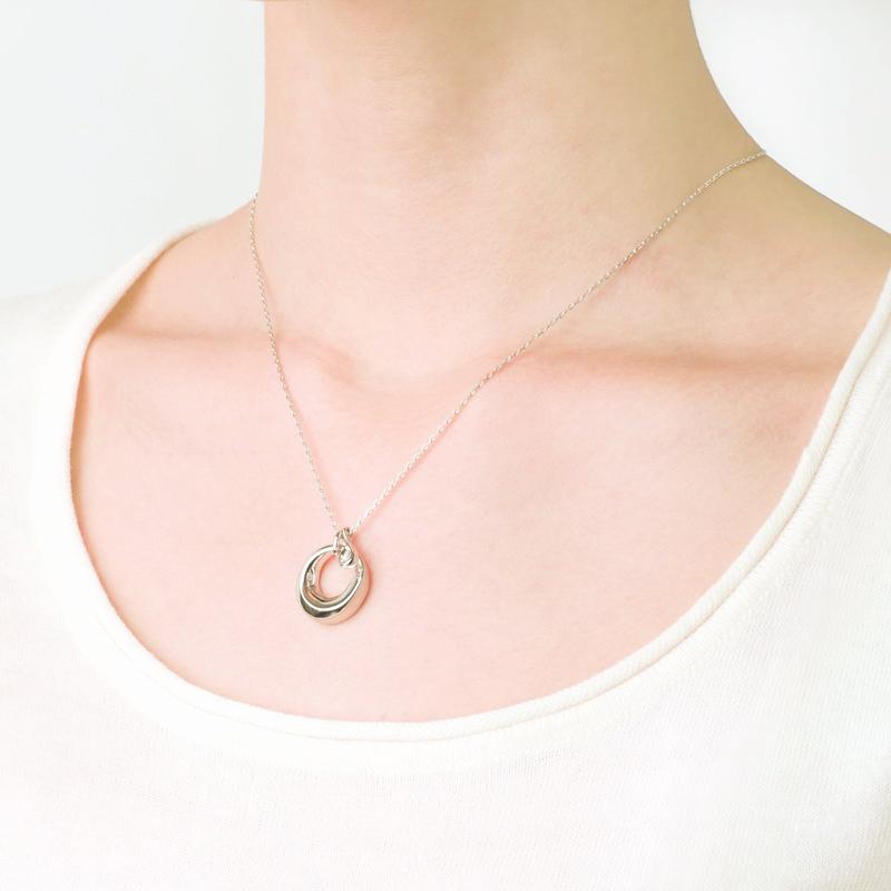 ソウルジュエリー(遺骨ペンダント) 【チャーム・ティアドロップ】 SILVER×ダイヤモンド 誕生石での制作も可能です