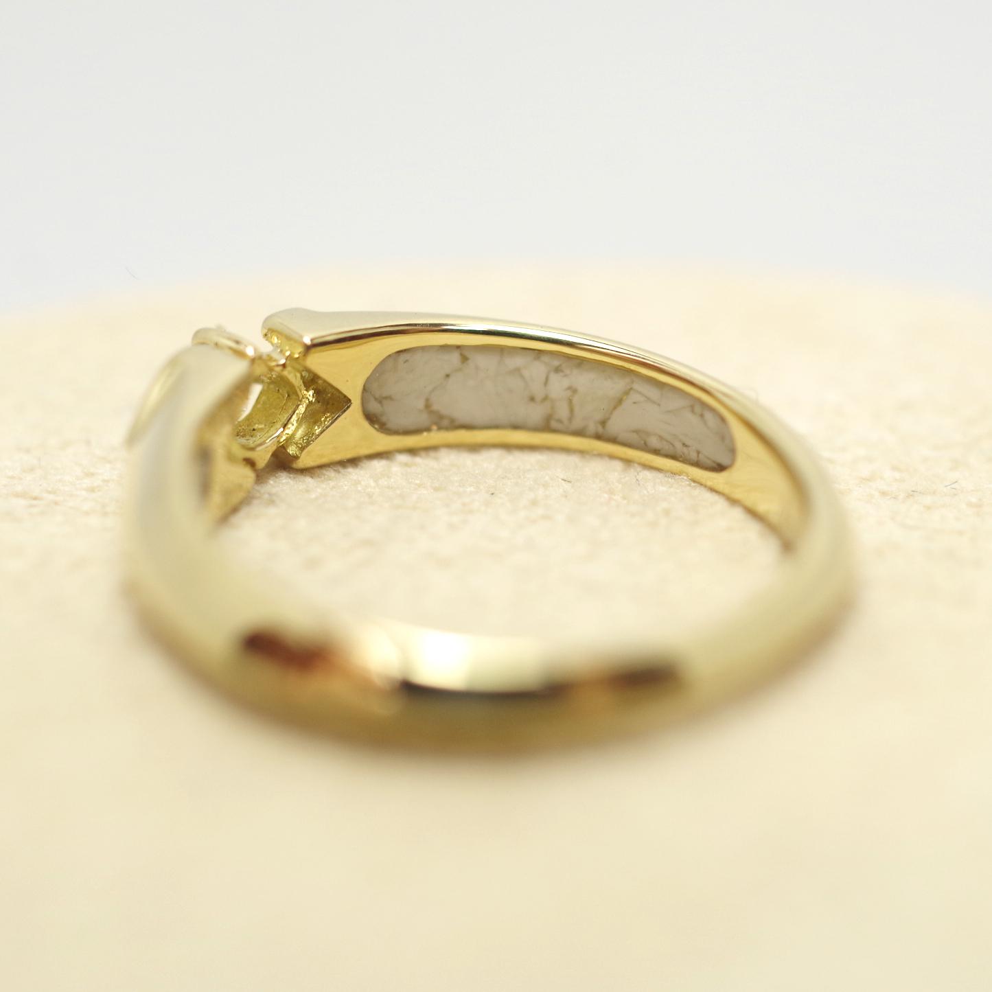 [完全防水] 遺骨を納める指輪 メモリアルリング LJR61  [素材:K18イエローゴールド]
