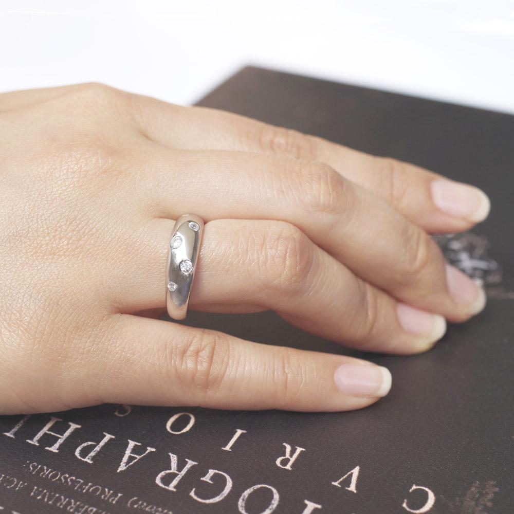 メモリアルリングMR07 地金:Pt900 (プラチナ) 〜遺骨リング  完全防水の指輪〜