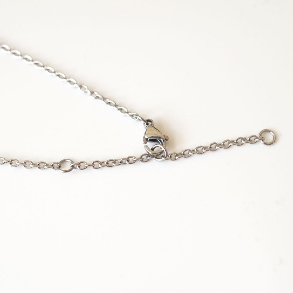 遺骨ペンダント ラインクロス [ステンレス316×ダイヤモンド] ソウルジュエリー チェーンの長さを選べます