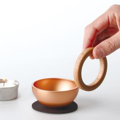 Sottoシリーズ デザイン仏具:三具足と花器がひとつになった小さなオールインワン仏具 ポタリン