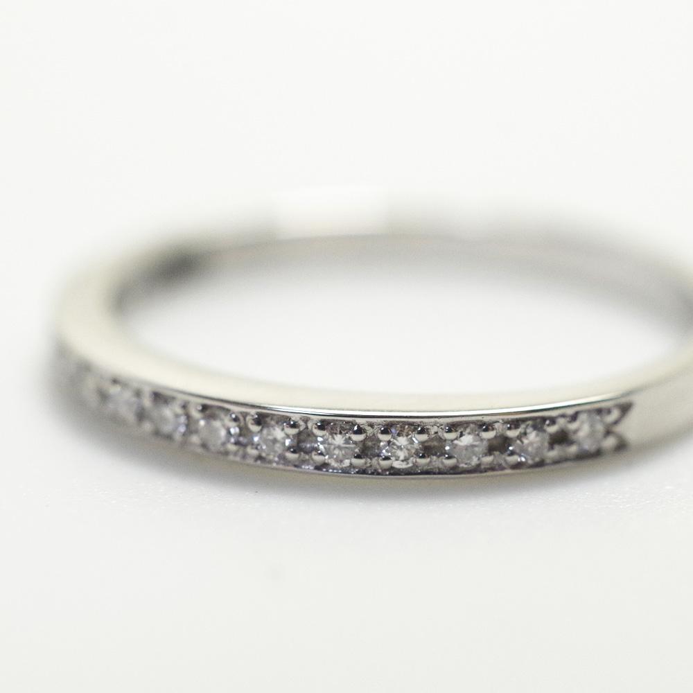 メモリアルリングMR08 地金:K10WG (10Kホワイトゴールド) 〜遺骨を内側にジェル封入する完全防水の指輪〜