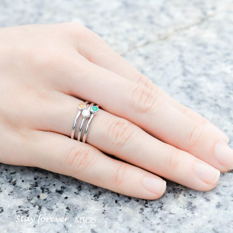 セミオーダーメモリアルリング【MR28/プラチナ×ダイヤモンド(3mm)または誕生石】指輪,遺骨