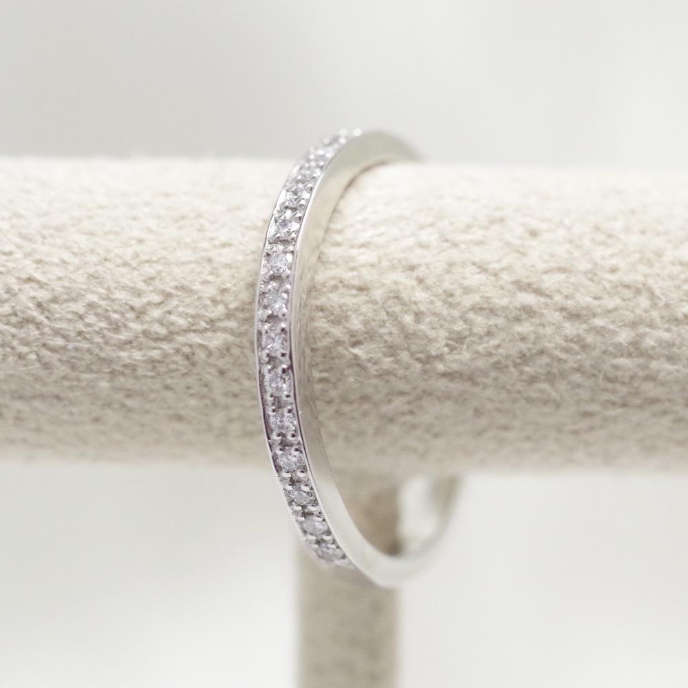 メモリアルリングMR08 地金:Pt900 (プラチナダイヤモンド) 〜遺骨リング ,完全防水の指輪〜