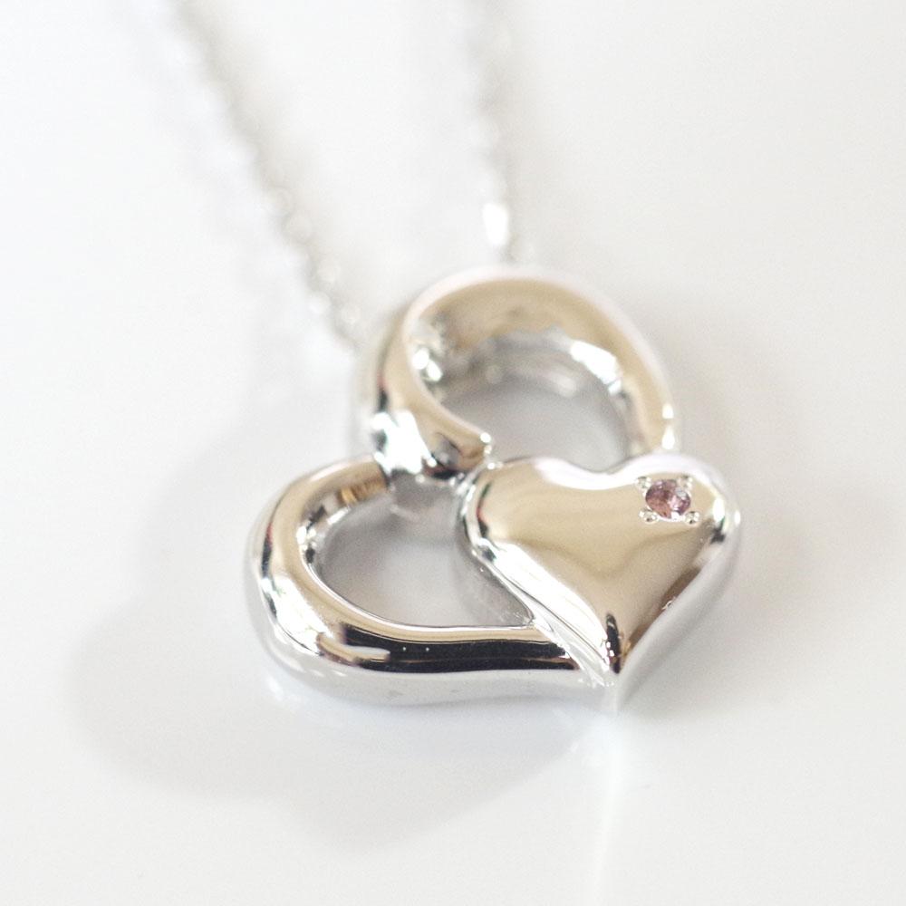 遺骨ペンダント ソウルジュエリー・ハート1 (SILVER925 シルバー× ダイヤモンド) 誕生石制作可 ロングチェーン
