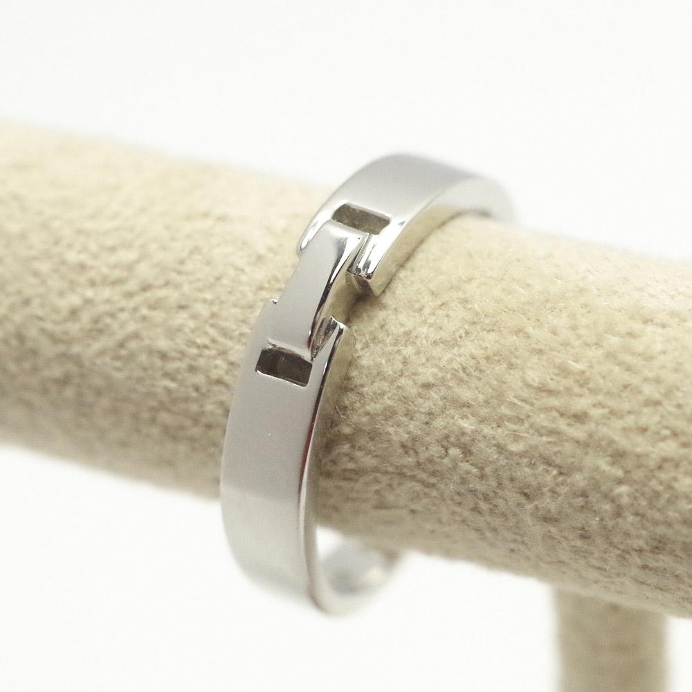 メモリアルリングMR13 地金:K10WG (10Kホワイトゴールド) 〜遺骨リング ,完全防水の指輪〜