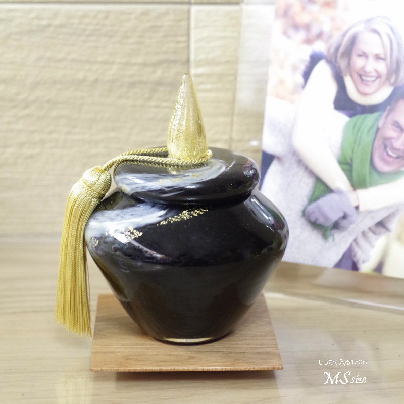 手元供養分骨ミニ骨壺 [追憶 〜TUIOKU〜 ] ブラック サイズ:MS