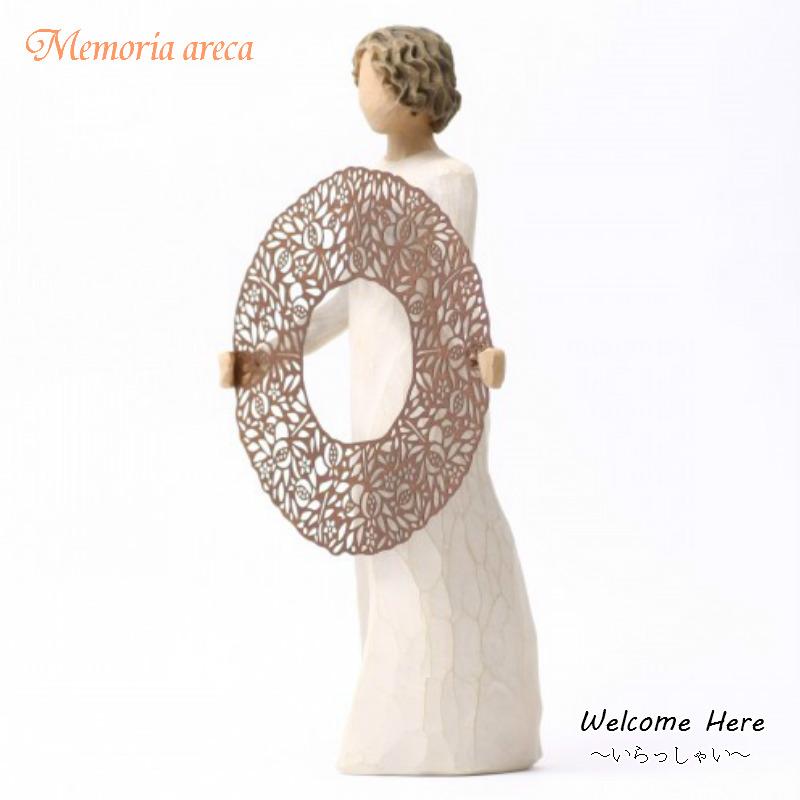 メモリアルオブジェ 【Welcome Here】 - いらっしゃい WillowTree