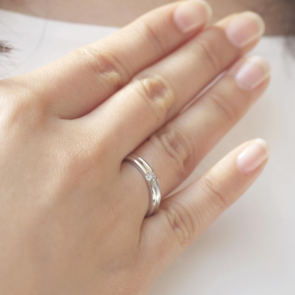メモリアルリングMR16 地金:Pt900 (プラチナ)〜遺骨リング ,完全防水の指輪〜
