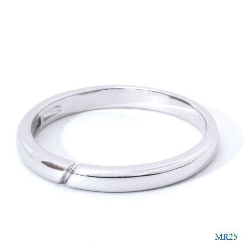 セミオーダーメモリアルリング【MR25/K18WG】指輪,遺骨,完全防水