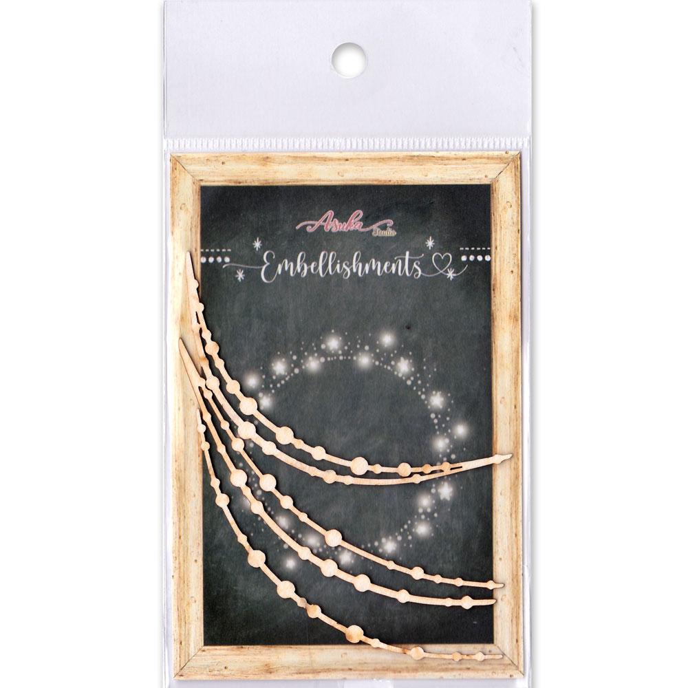 MP-60657  Chipboard Embellishment Fairy Lights / 3pcs