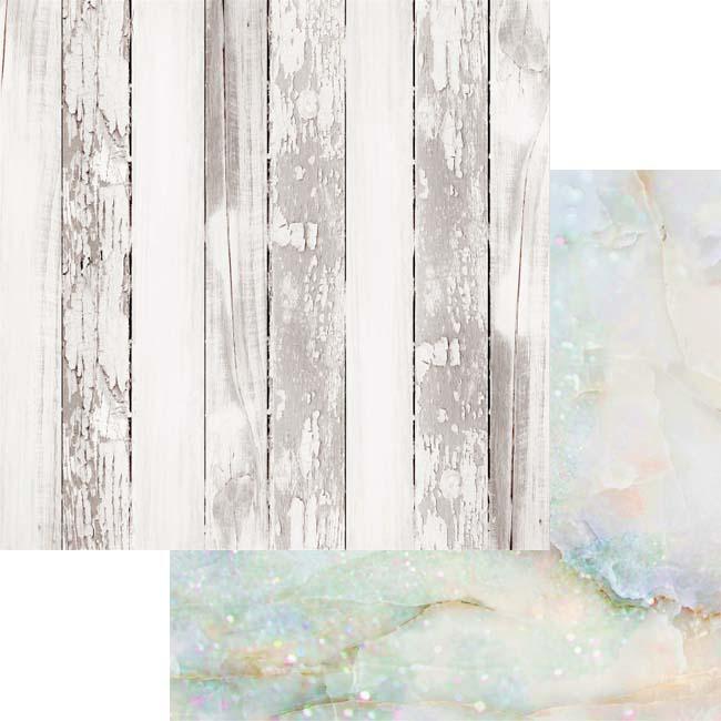 MP-60327 12x12 Weathered Wood & Crystals Moonstone