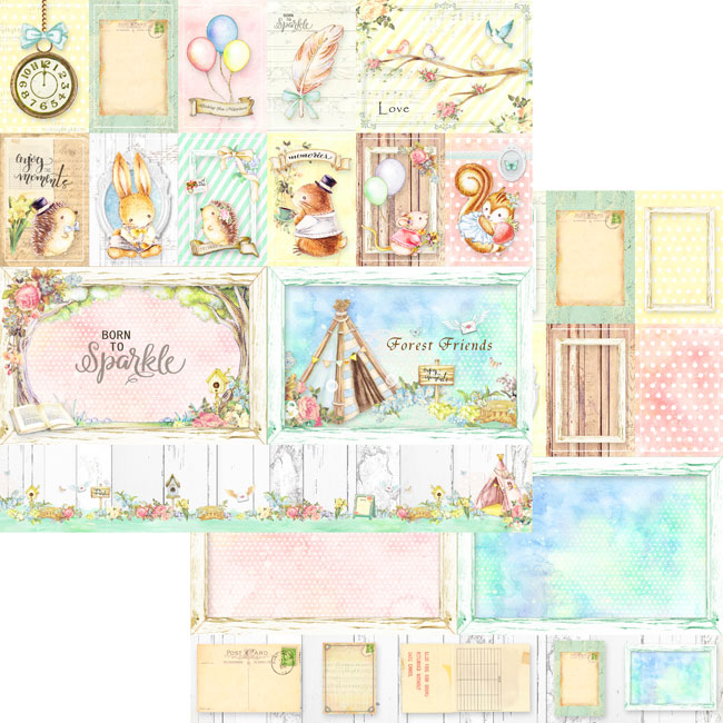 MP-60101 12X12 Forest Friends Collection Paper Pack
