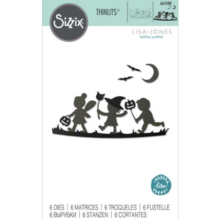 Sizzix-664588 Thinlits Die Set 6PK