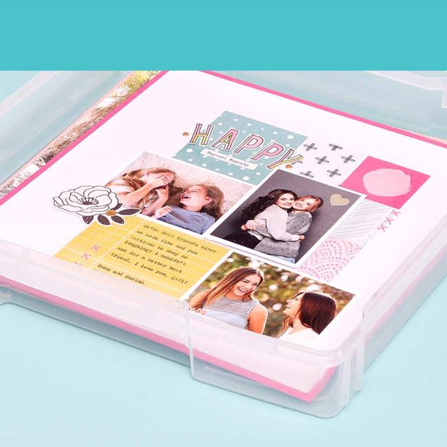 WRMK-661105 Storage - WR - Craft Stroage Bins - Craft & Photo Case - 12 X 12