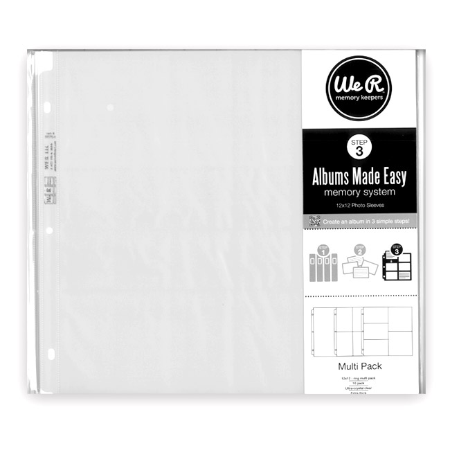 WRMK-50161-9 12x12 Ring Page Protector 10pk