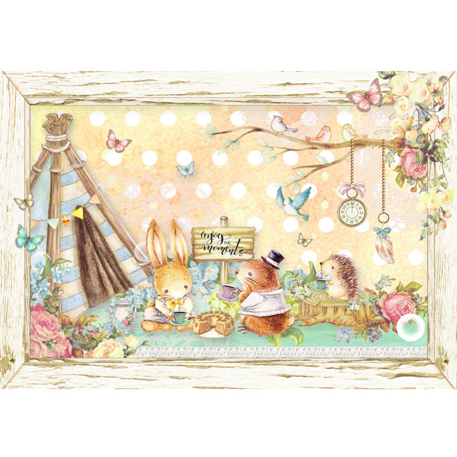 MP-58987 ポストカード Forest Friends Tea Time