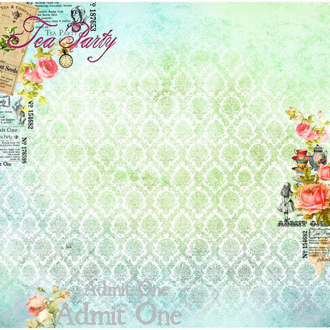 MP-60301 12x12 Alice's Tea Party