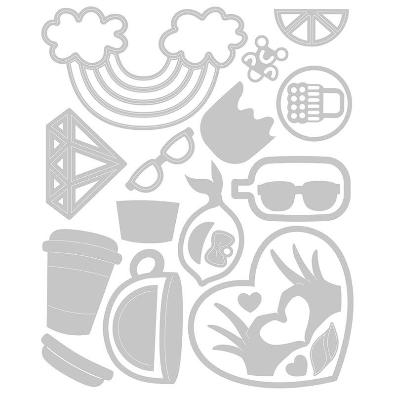 【50%OFF SALE】Sizzix-664365 Thinlits Die Set 25PK Spring Icons
