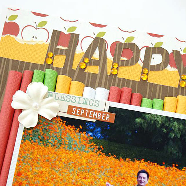 """ラブメモ 59397 【ラブメモ・アカデミー☆レッスンキット】 ≪ルールにとらわれない!カラフル&ポップなレイアウト""""HAPPY FALL""""≫"""