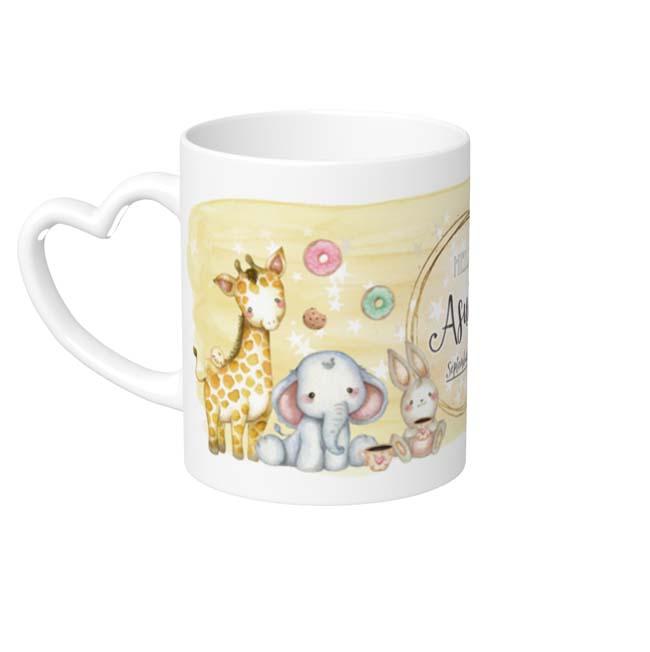 MP-60530 Dreamland Mug Cup Heart Handle Yellow