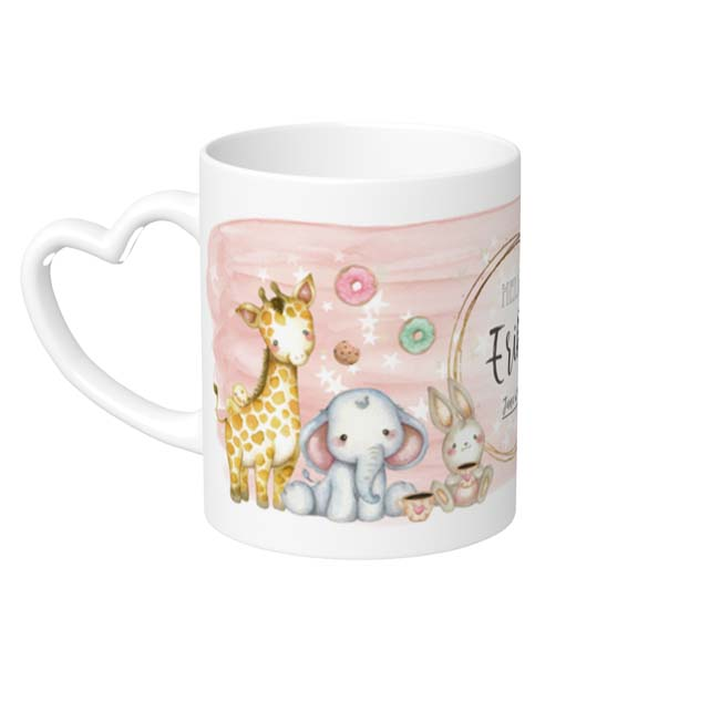 MP-60532 Dreamland Mug Cup Heart Handle Pink
