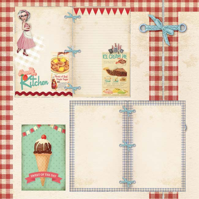 MP-60278 Vintage Recipes Cream Pie C-7-3