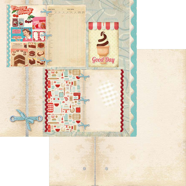 MP-60282 Vintage Recipes 12x12 Collection Pack