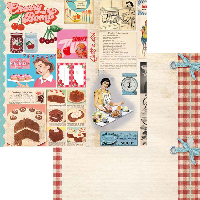 MP-60283 Vintage Recipes 6x6 Collection Pack