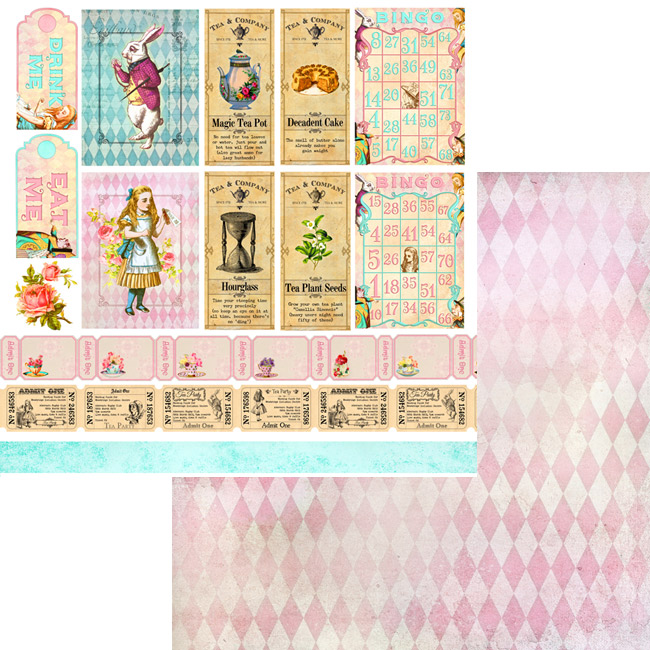 MP-60313 6x6 Alice's Tea Party Collection Pack