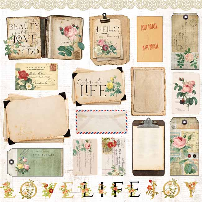MP-60374 Floral Tapestry 12x12 Celebrate Life C-8-24
