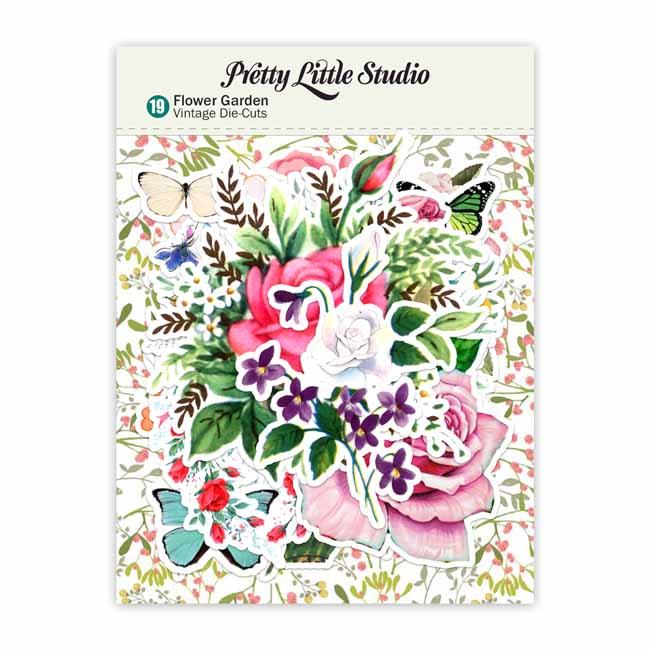 【50%OFF SALE】PLS-VD1073 Die-Cuts   Flower Garden (pack)