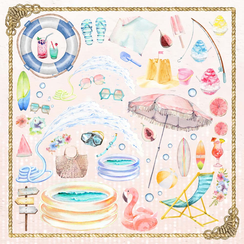 MP-60620  Welcome to Paradise 12x12 Summer Elements