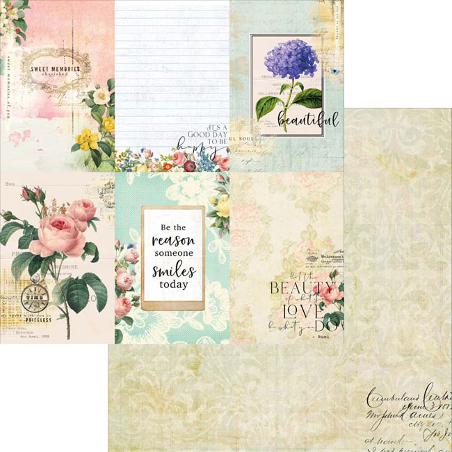 MP-60480 Floral Tapestry 4x6 Journaling Cards Collection Pack