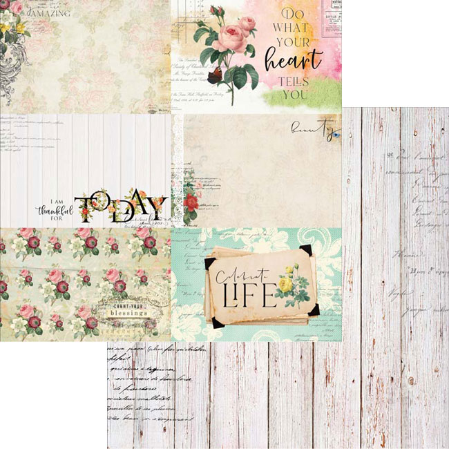 MP-60483 Floral Tapestry 4x6 Journaling Cards 3