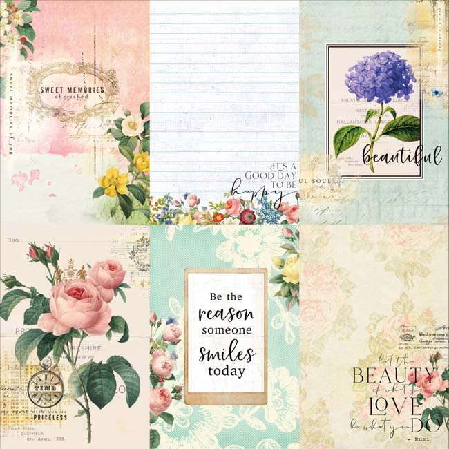 MP-60484 Floral Tapestry 4x6 Journaling Cards 4