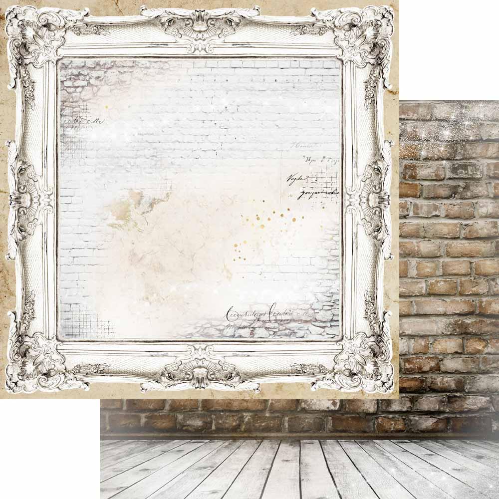 MP-60645  Brick Wall & Frames 12x12 Ornate
