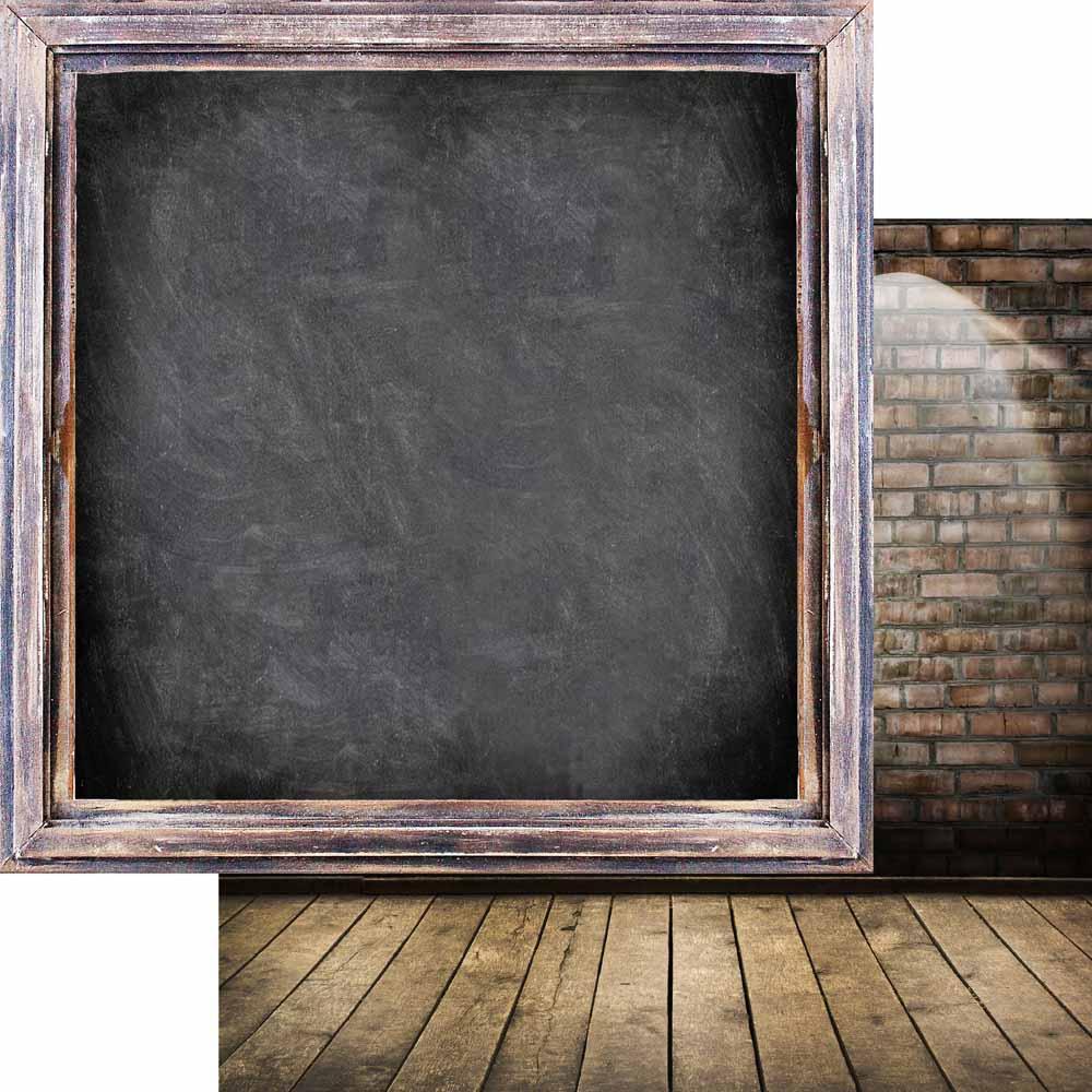 MP-60647  Brick Wall & Frames 12x12 Chalkboard