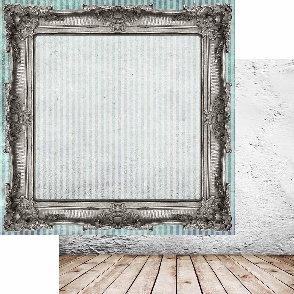 MP-60648  Brick Wall & Frames 12x12 Classic