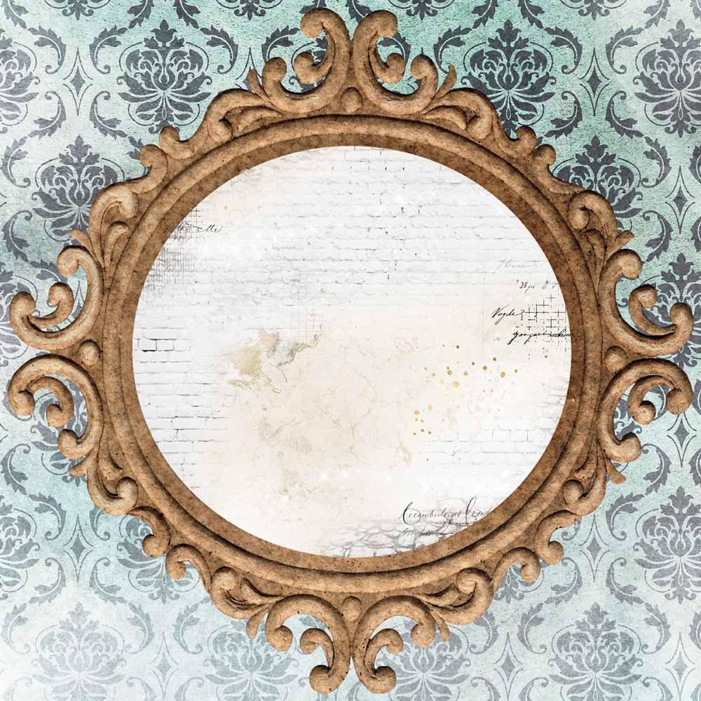 MP-60649  Brick Wall & Frames 12x12 Mirror Mirror