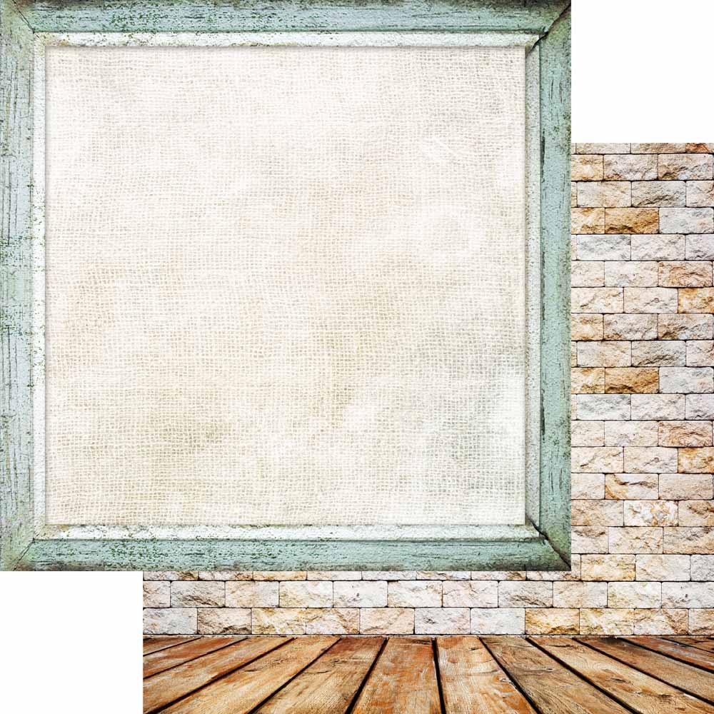 MP-60650  Brick Wall & Frames 12x12 Calm